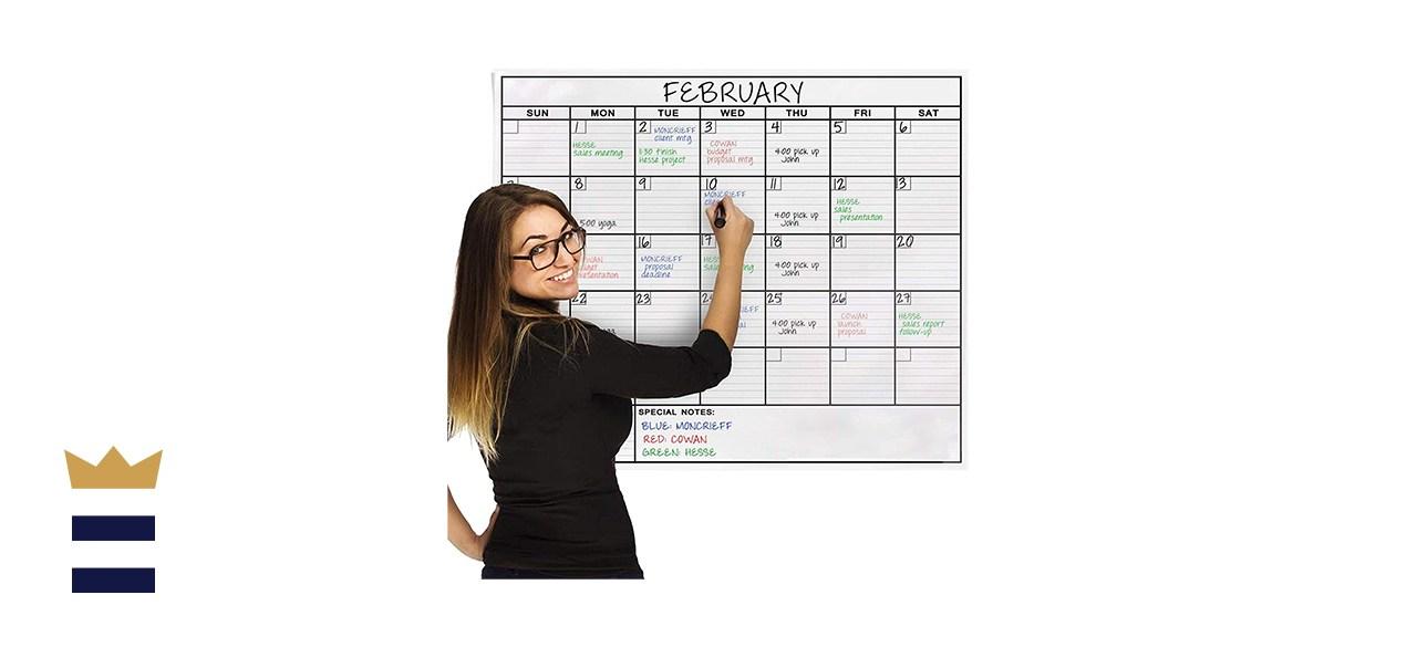 OfficeThink Jumbo Dry-Erase Laminated Wall Calendar