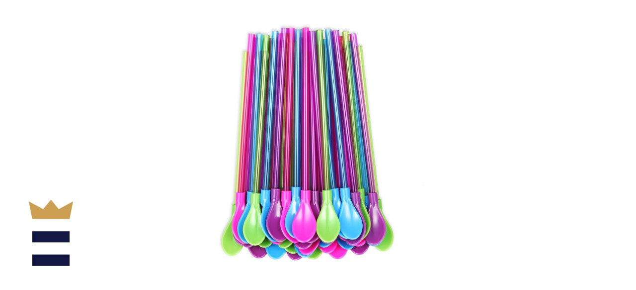 OKGD Hard Plastic Spoon Straws
