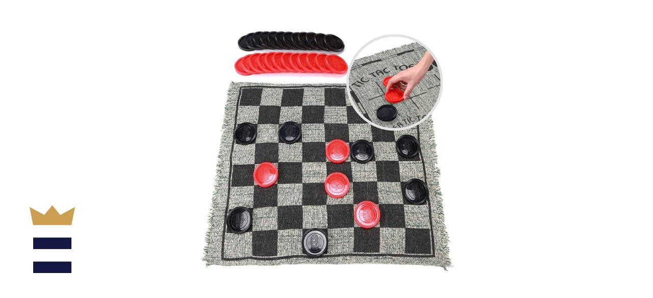 OleOletOy Giant Checkers Set