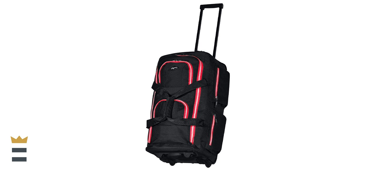 Olympia 22-Inch 8-Pocket Rolling Duffel Bag