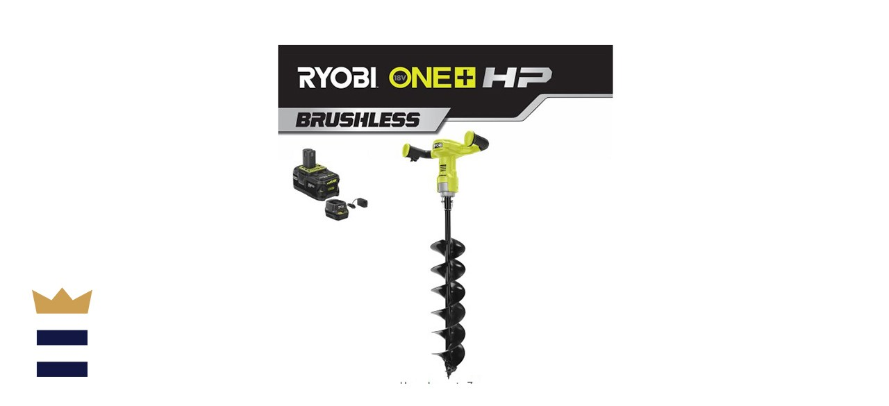 ONE+ 18-Volt HP Lithium-Ion Cordless Earth Auger with 6 in. Bit and 4.0 Ah Battery and Charger Included