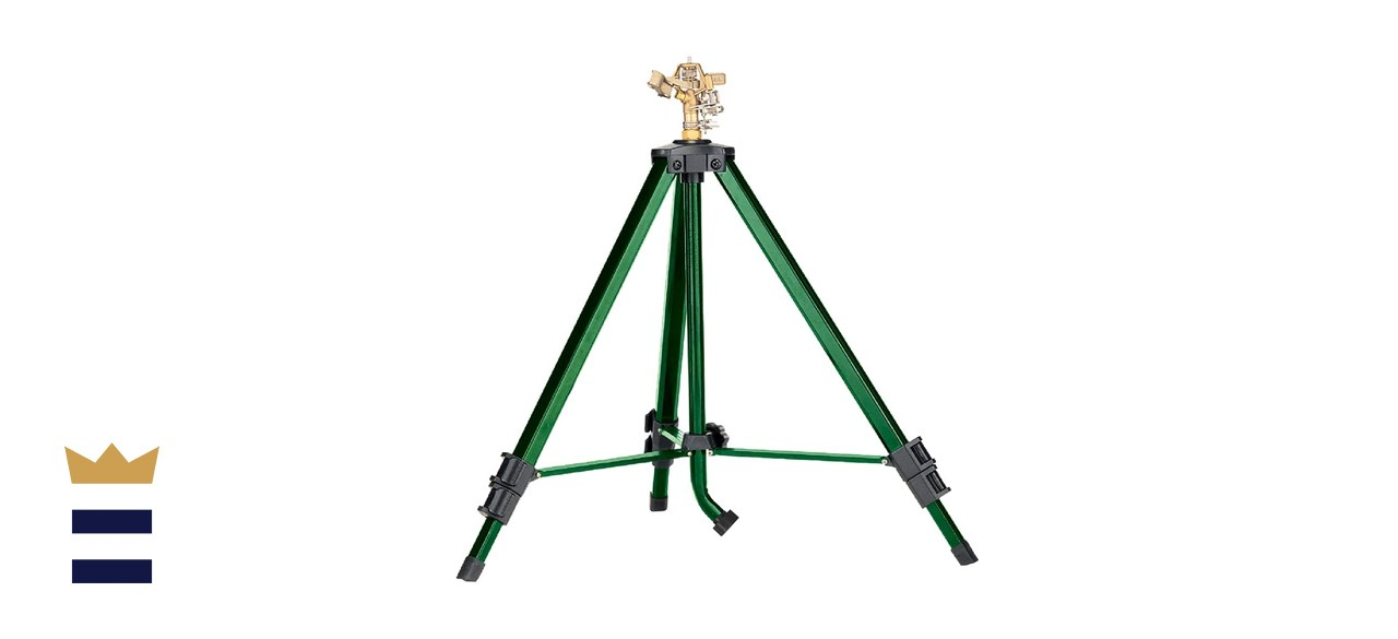 Orbit Brass Impact Sprinkler on Tripod