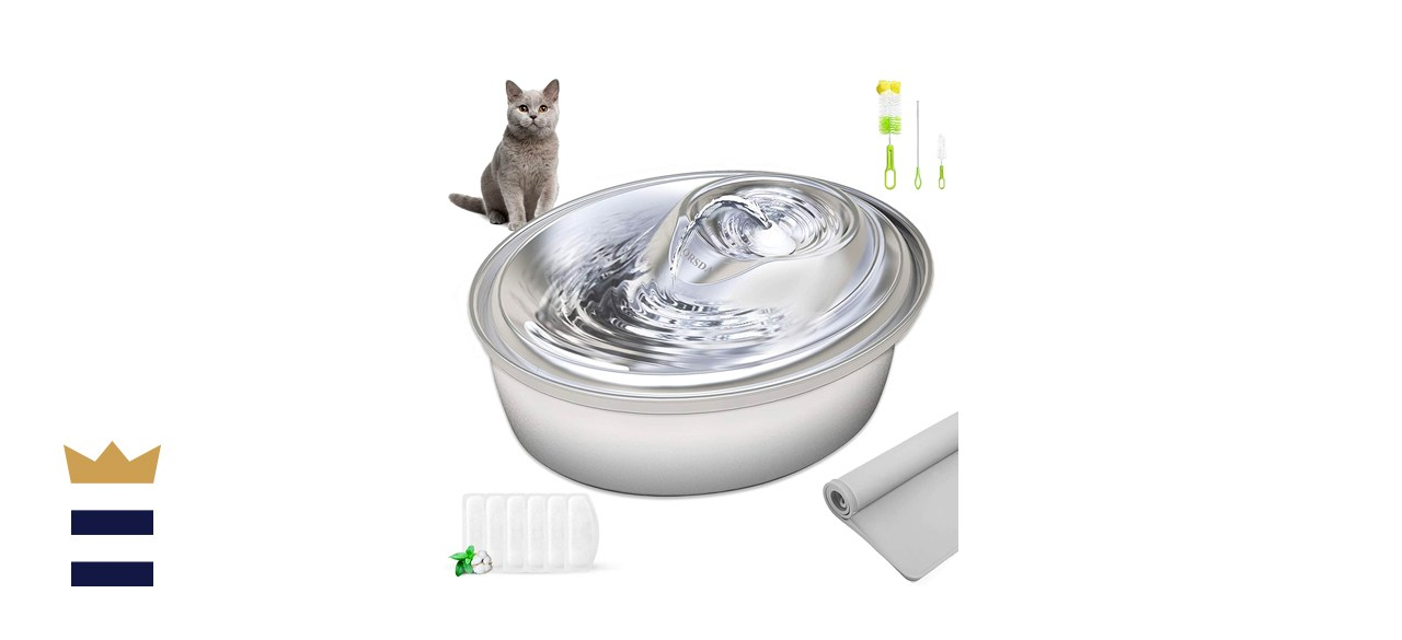 ORSDA Stainless Steel Pet Water Fountain
