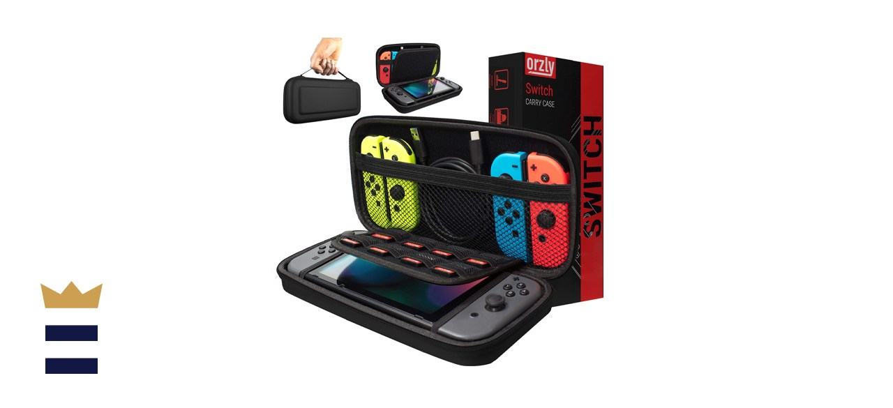 Orzly Nintendo Switch Case with 9-Game Cartridge Pouches and Mesh Pocket