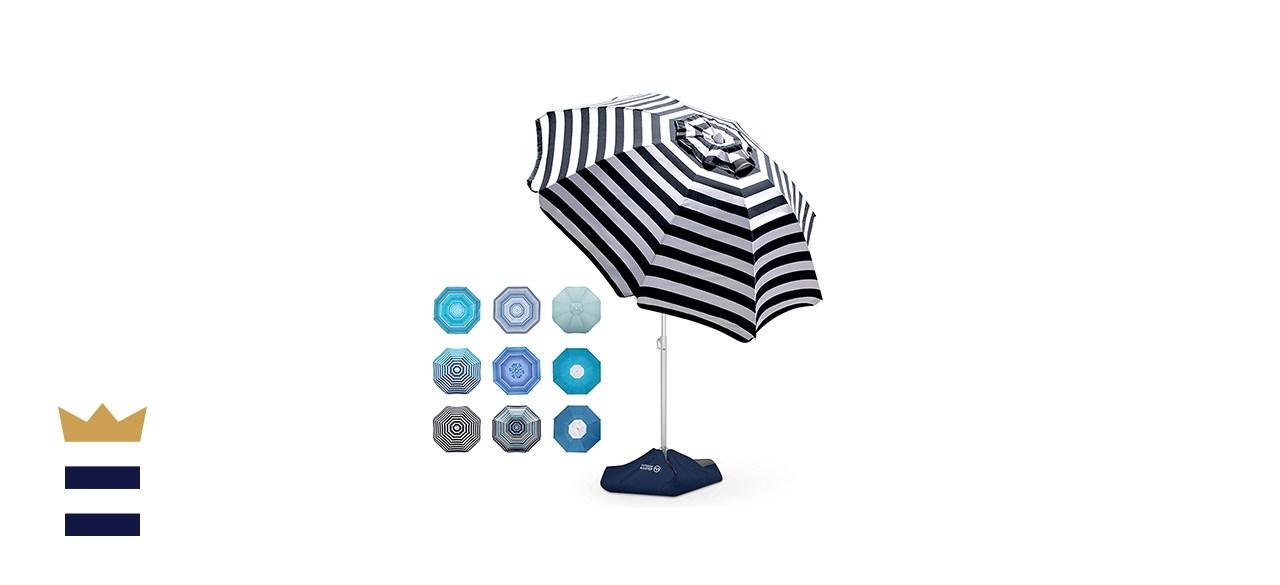 OutdoorMaster Windproof Beach Umbrella