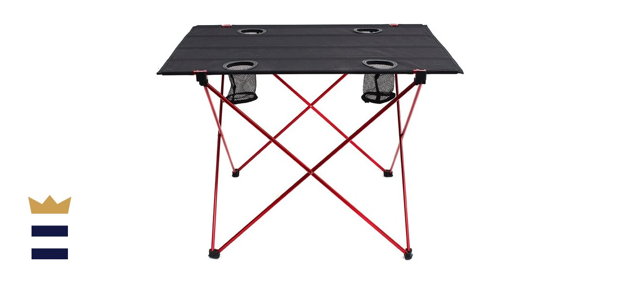 Outry Lightweight Folding Table with Cup Holder