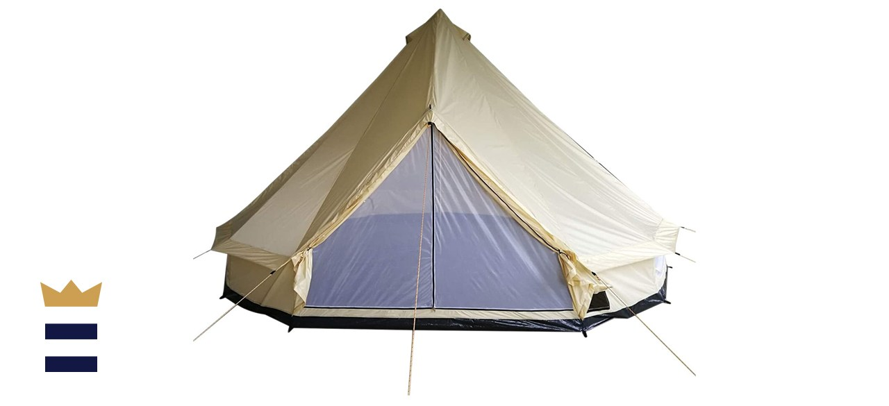 Outsunny 16' 10-Person Waterproof Camping Tent Yurt with Unique Style