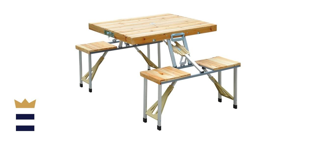 Outsunny Portable Picnic Table Set