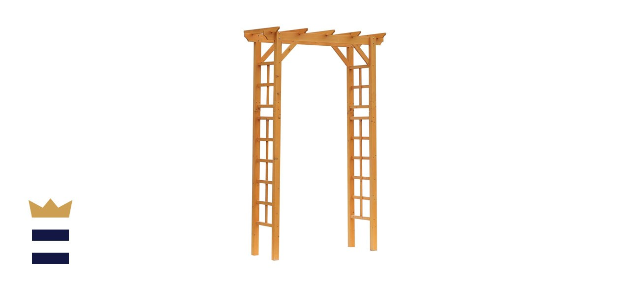 Outsunny Wood Steel Outdoor Garden Arch