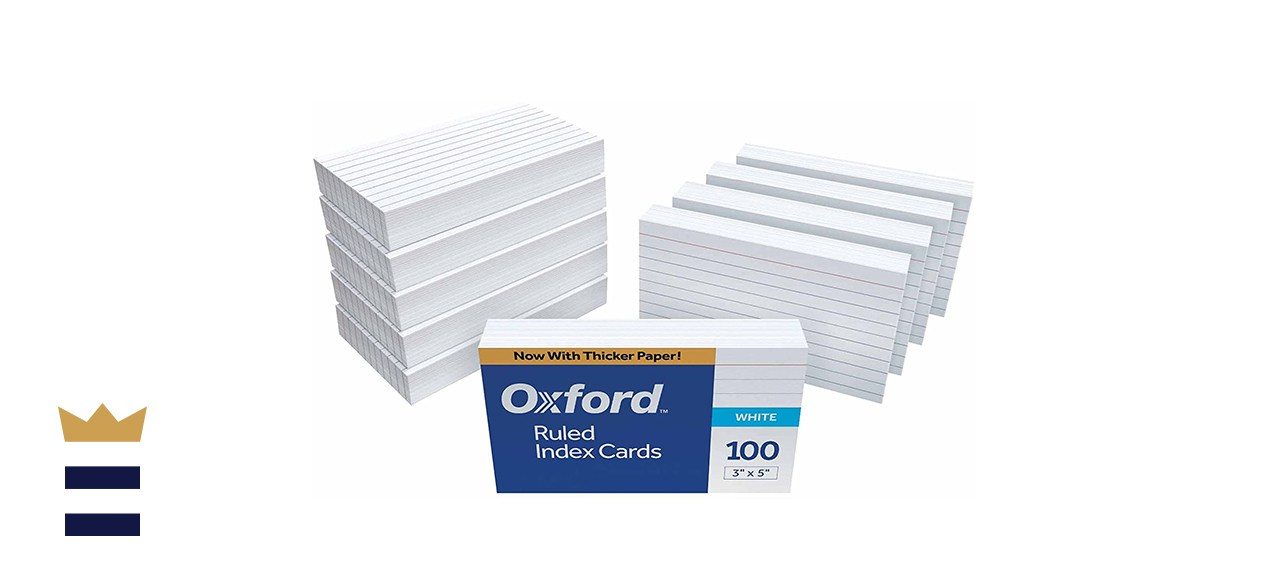 Oxford 3 x 5-Inch Ruled Index Cards, 1,000-Count