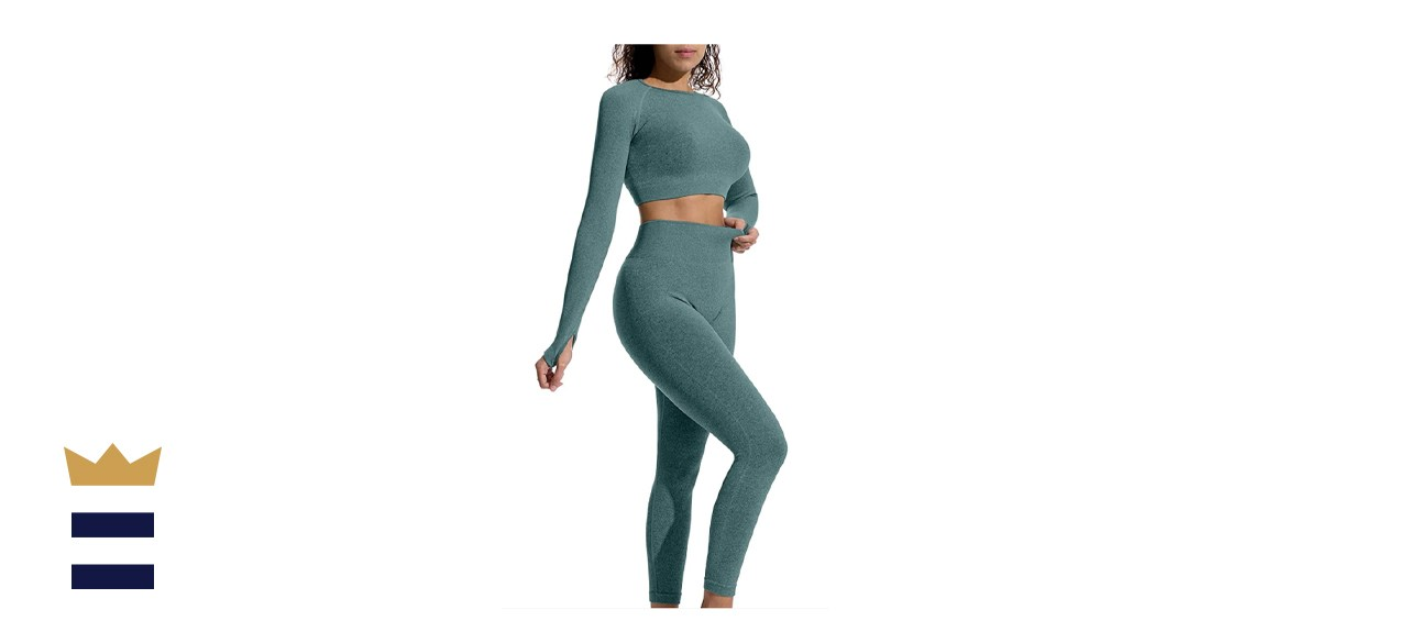 OYS Womens 2 Piece Workout Outfit
