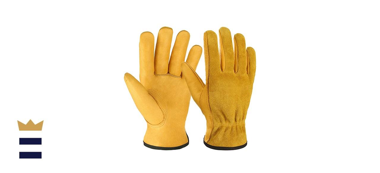 OZERO Leather Work Gloves