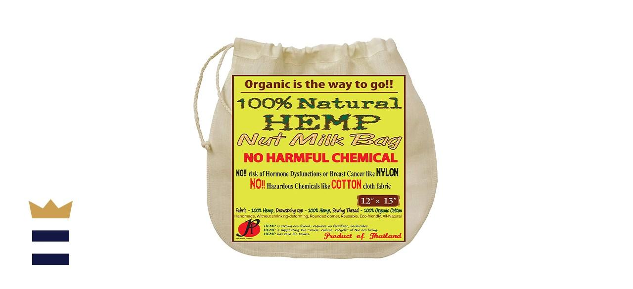 P F Natural Hemp Nut Milk Bag