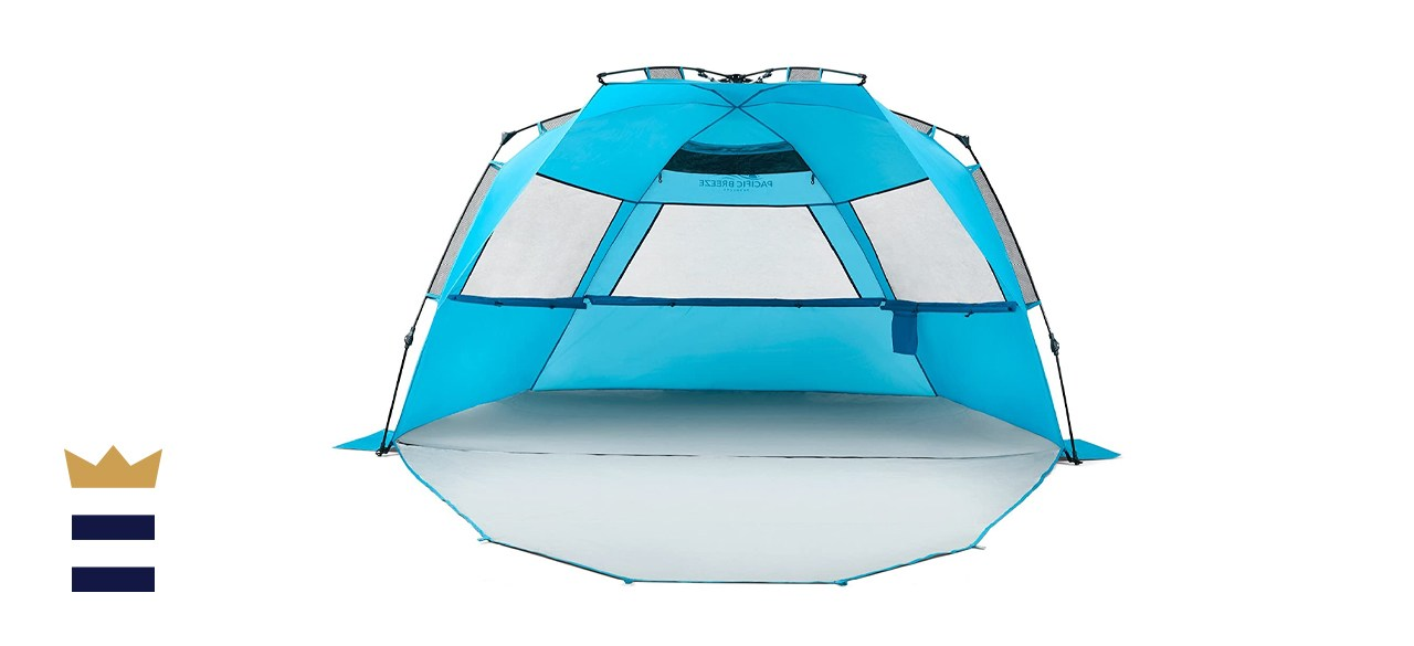 Pacific Breeze Easy Setup Deluxe XL Beach Tent
