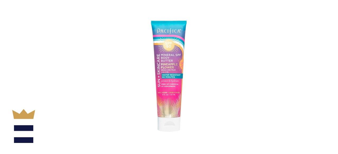 Pacifica Beauty Sun & Skin Care Mineral Body Butter Pineapple Flower SPF 50