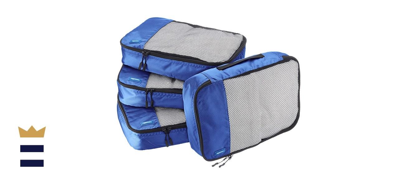 Amazon Basics 4 Piece Packing Travel Organizer Cubes Set