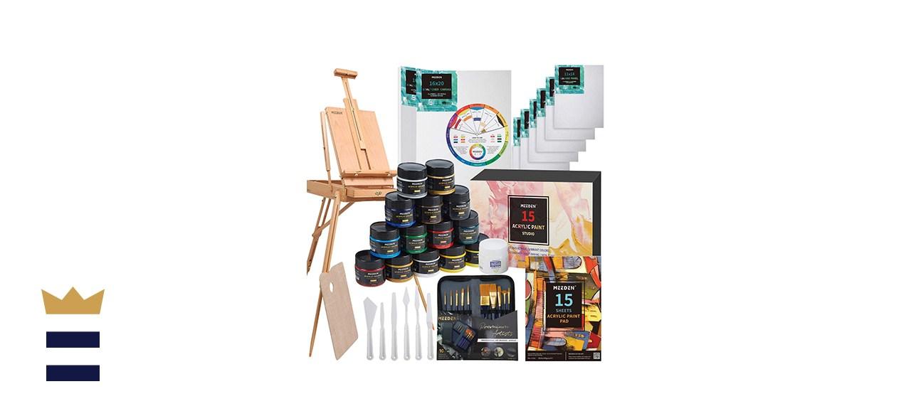 MEEDEN Great Deluxe Value Artist Acrylic Painting Set