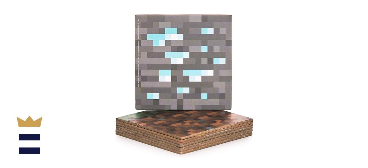 Paladone Block Double-Sided Minecraft Hardboard Coasters