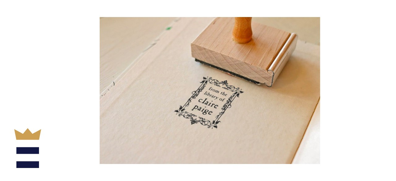PaperPeachShop Floral Frame Library Stamp