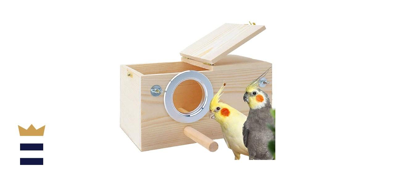 Parakeet Nest Box for Medium-Sized Birds