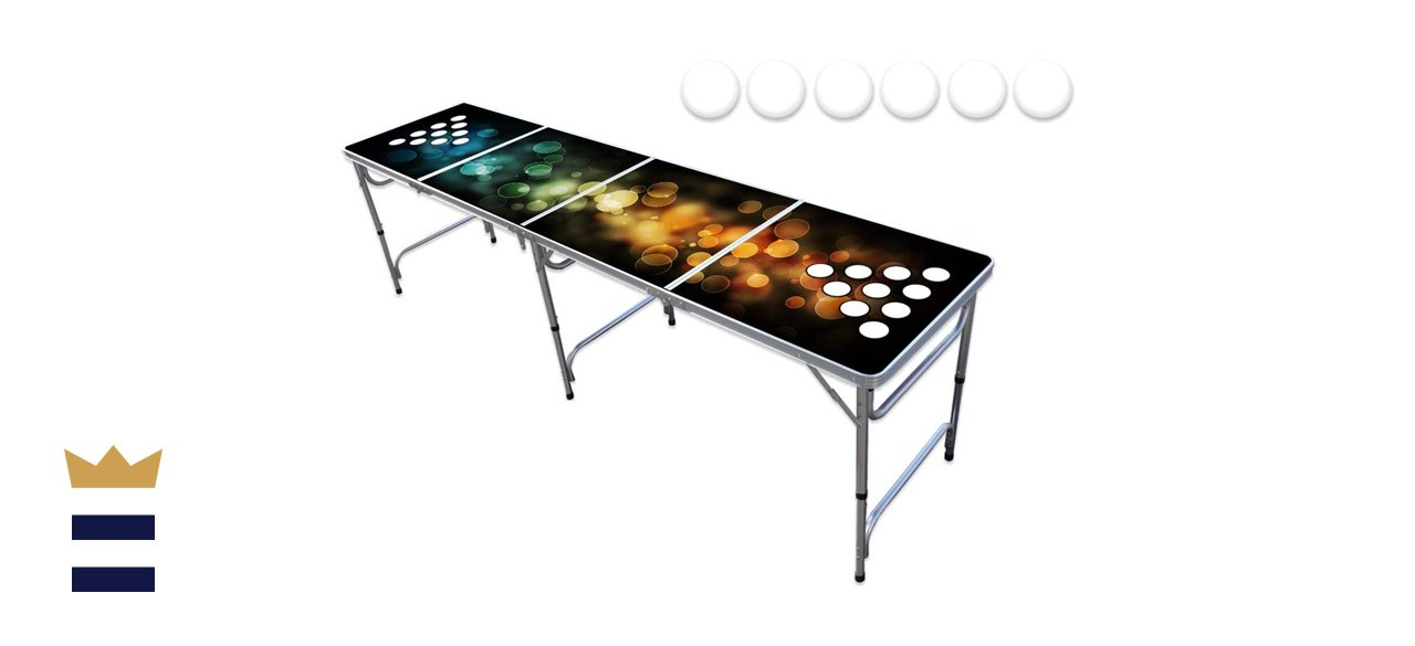 PartyPong Table 8-Foot With Cup Holders
