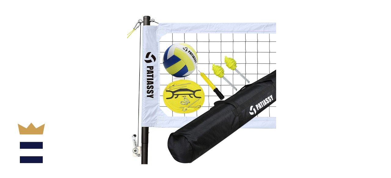 Patiassy Portable Outdoor Volleyball Set with Adjustable Height