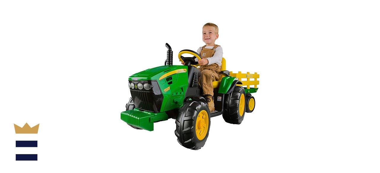 Peg Perego's John Deere Tractor with Trailer