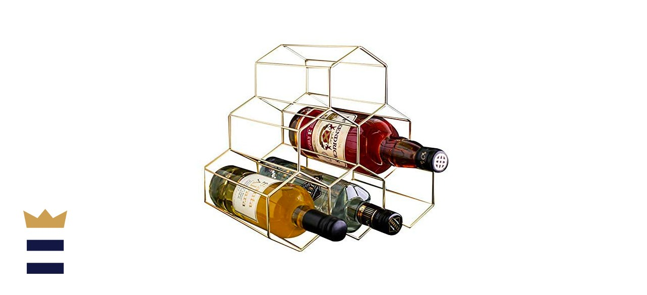PENGKE Freestanding 6-Bottle Countertop Wine Rack