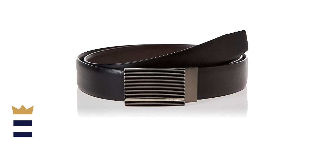 Perry Ellis Portfolio Reversible Patterned Plaque Belt