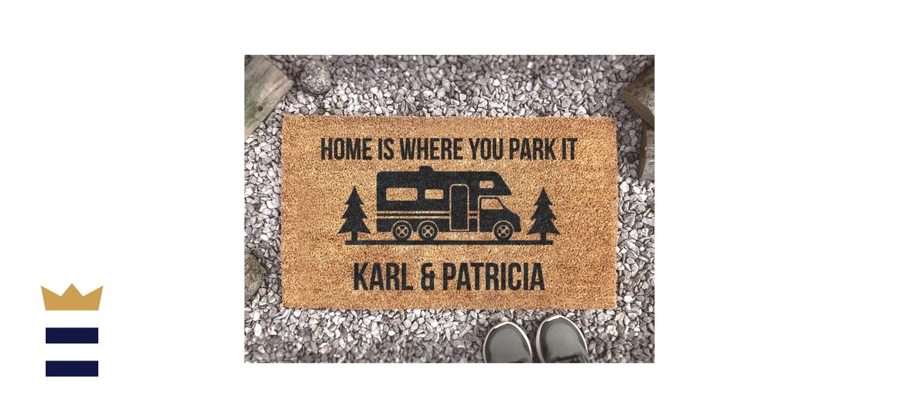 Personalized Camping Doormat
