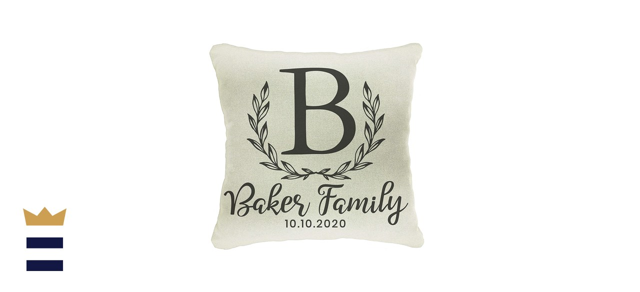 """Personalized Throw Pillow Case, 18"""" x 18"""""""