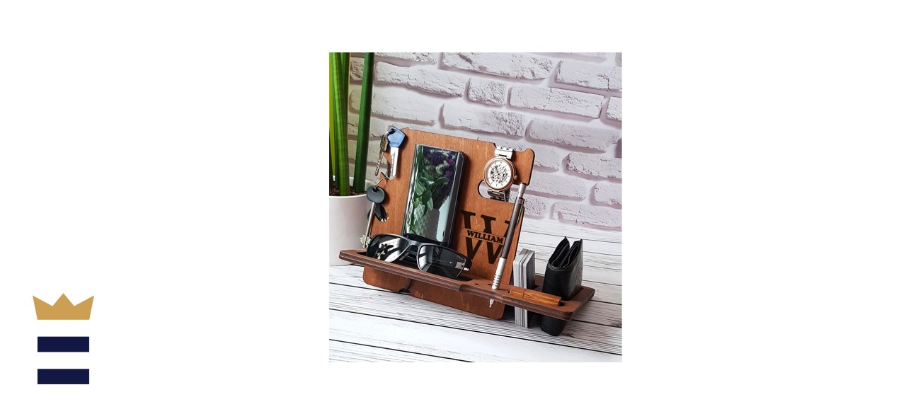 Personalized Wood Docking Stand