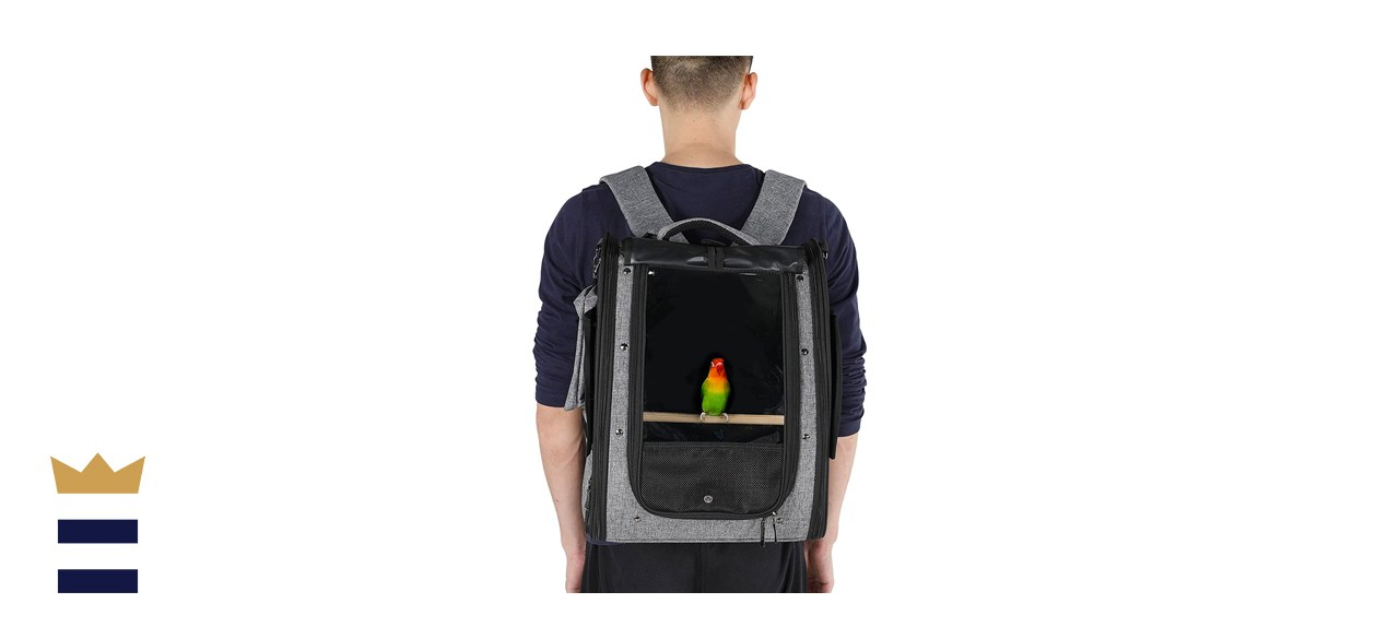 Petsfit Bird Carrier with Stainless Steel Bowl
