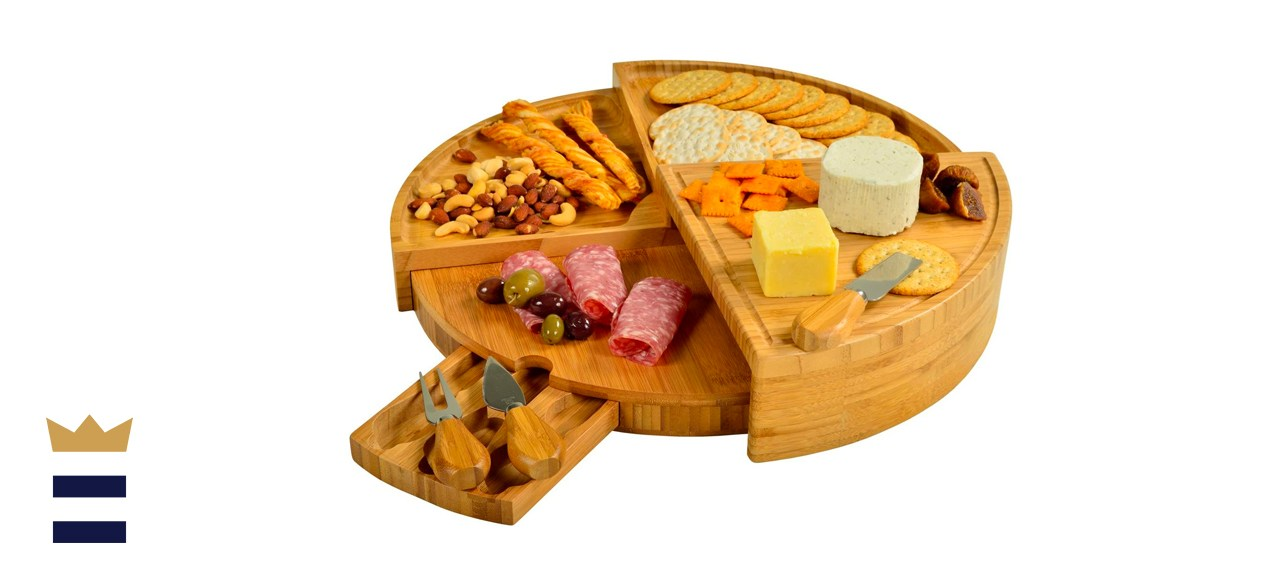 Picnic at Ascot Patented Bamboo Cheese/Charcuterie Board with Knife