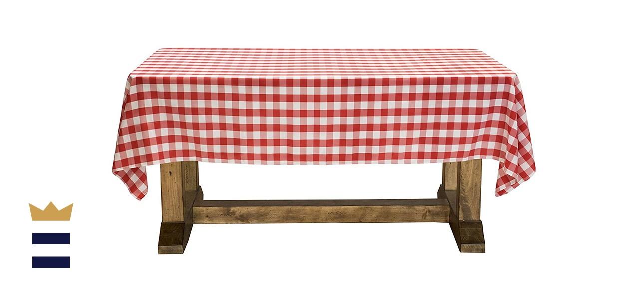 """Lann's Linens - 60"""" x 102"""" Premium Checkered Tablecloth"""