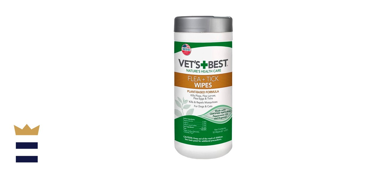 plant-based flea and tick wipes for cats and dogs