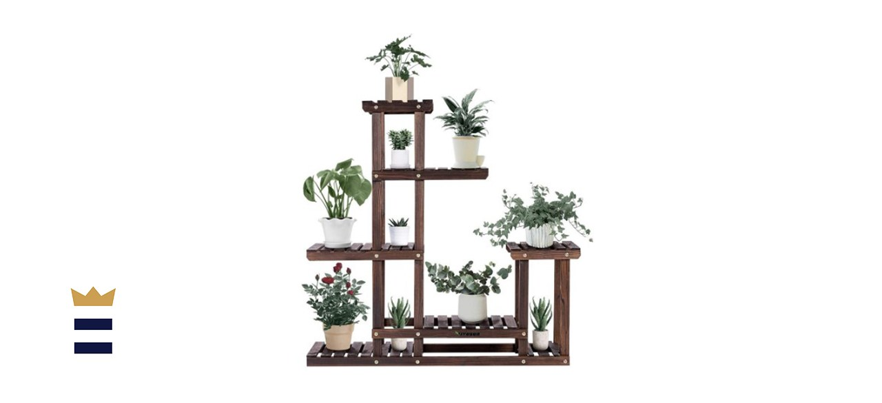 5-Layers 10-Pots Bamboo Plant Stand Plant Holder