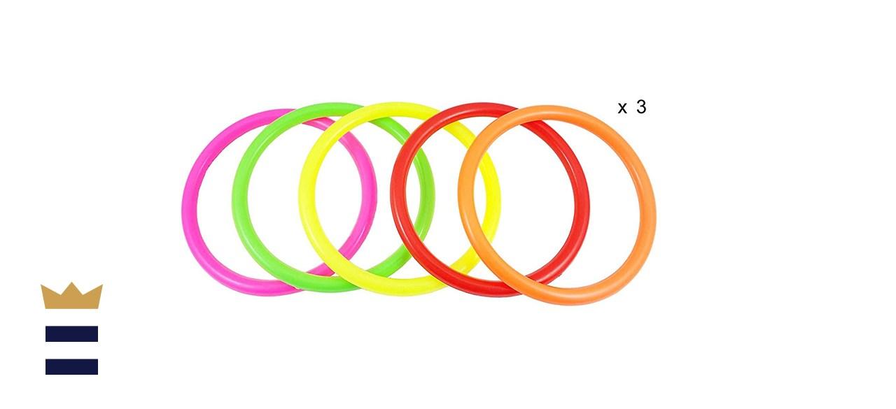plastic rings toss