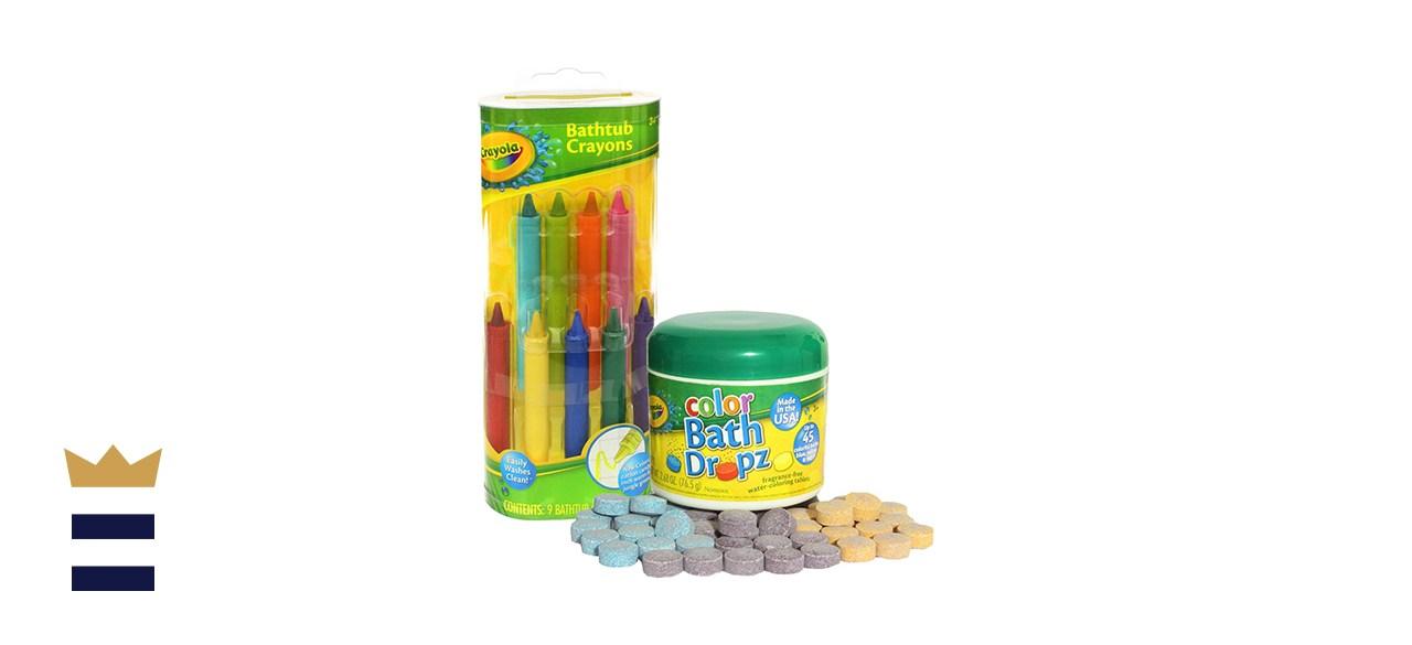 Play Visions Crayola Bathtub Crayons with Crayola Color Bath Drops