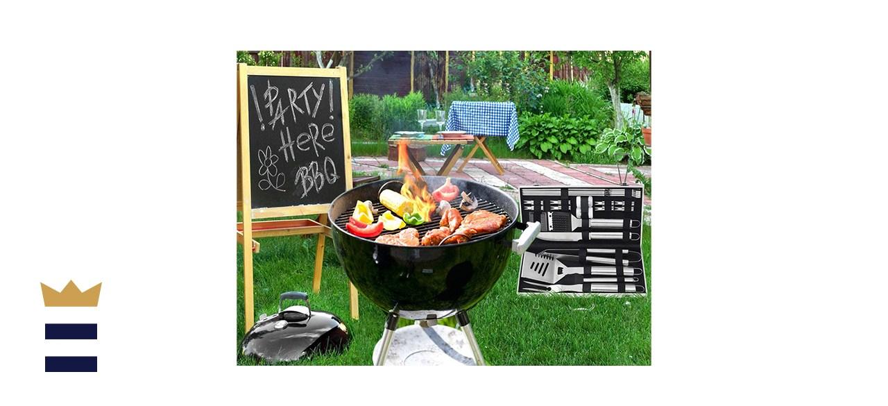 Poligo 22-Piece Camping BBQ Grill Accessories Kit