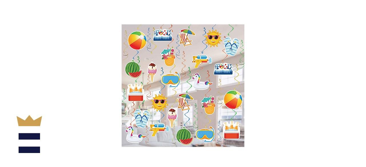 Pool Beach Summer Party Supplies Set