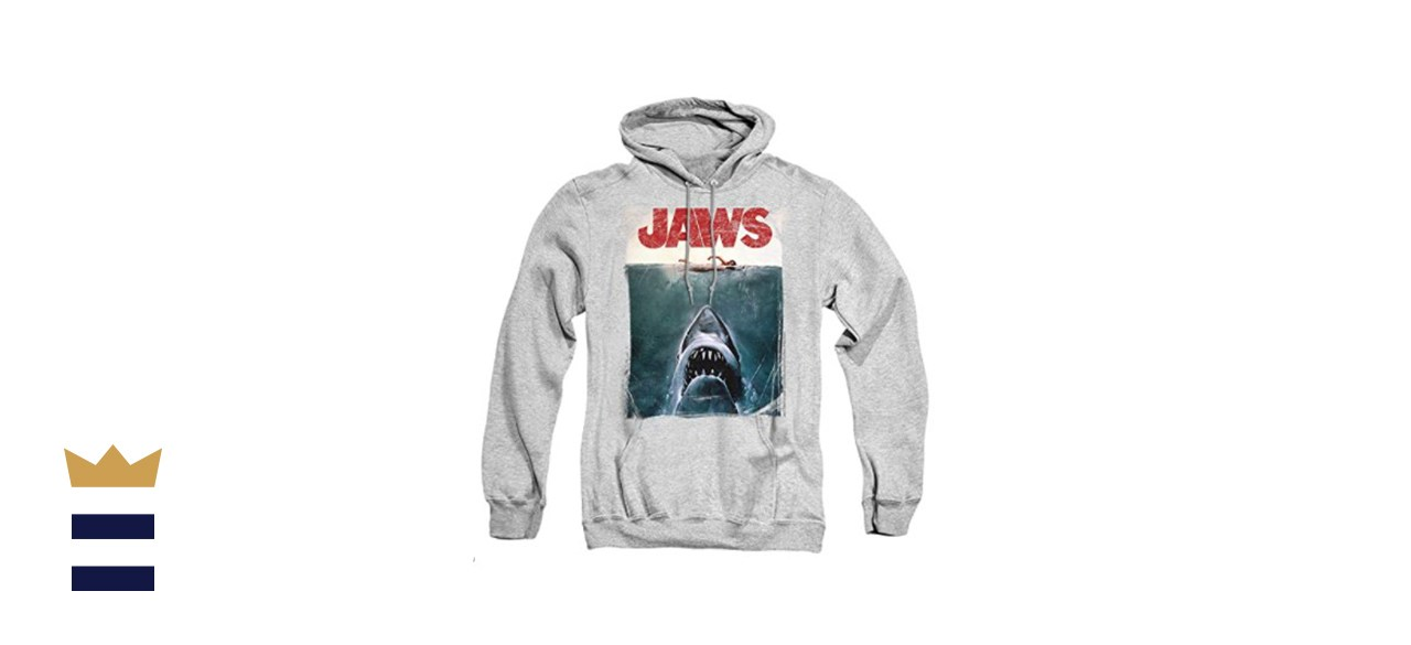 Popfunk Jaws Shark Movie Poster Pullover Hoodie Sweatshirt