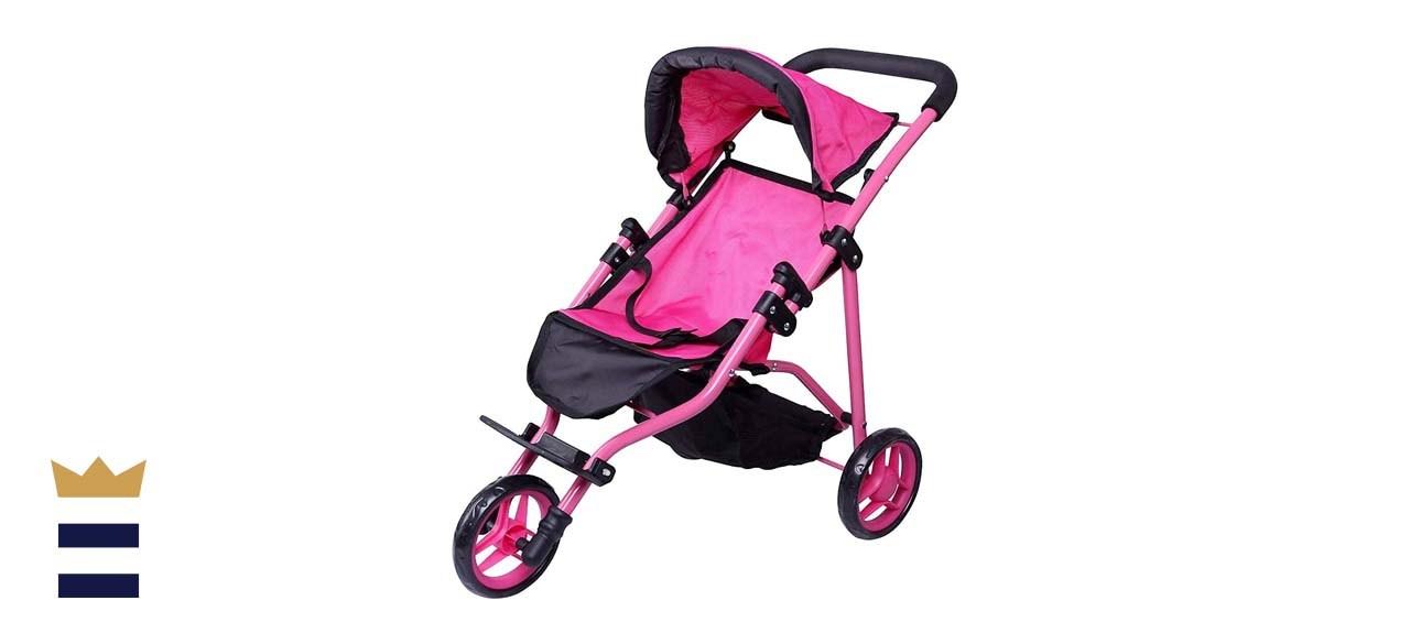 Precious Toys Jogger Hot Pink Doll Stroller