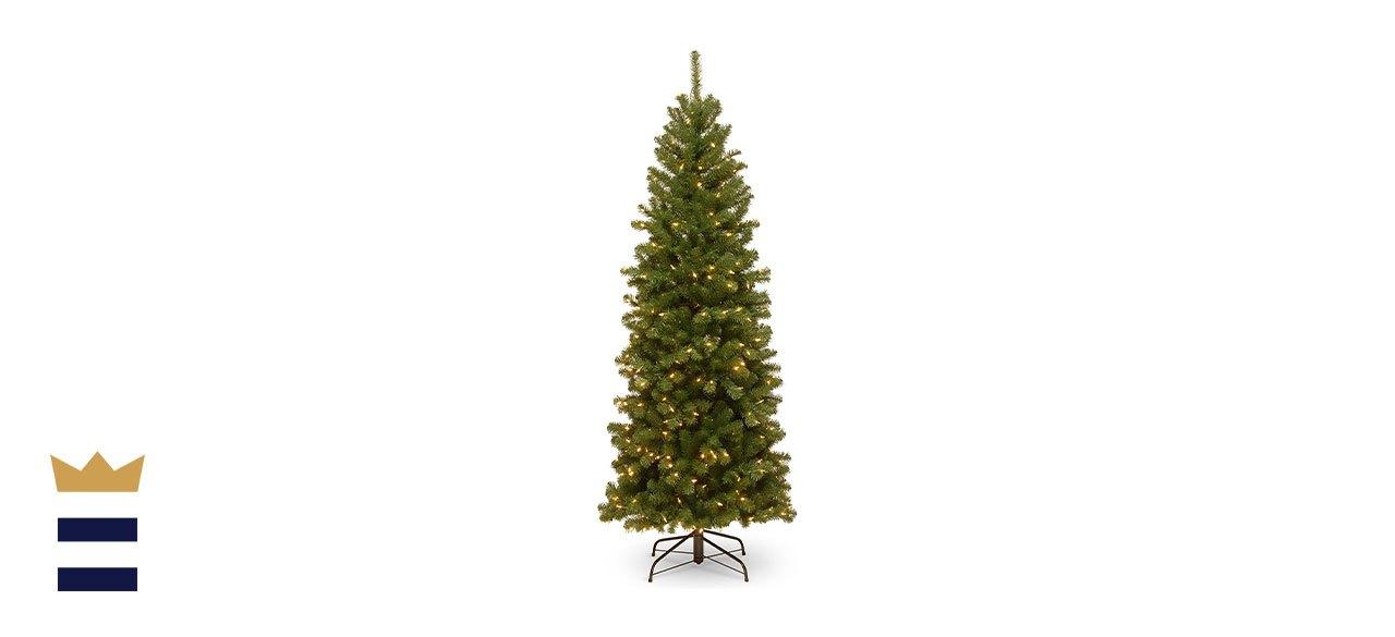 prelit artificial Christmas tree