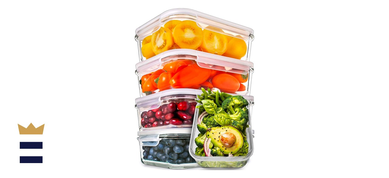 PrepNaturals Meal Prep Glass Containers