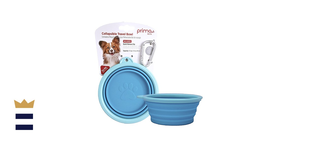 Prima Pets Collapsible Travel Bowl with Carabiner