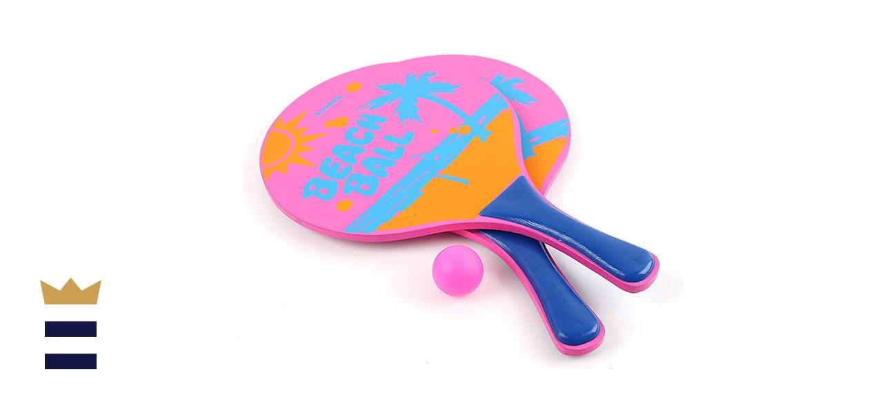 Pro Impact Beach Paddle Ball Set