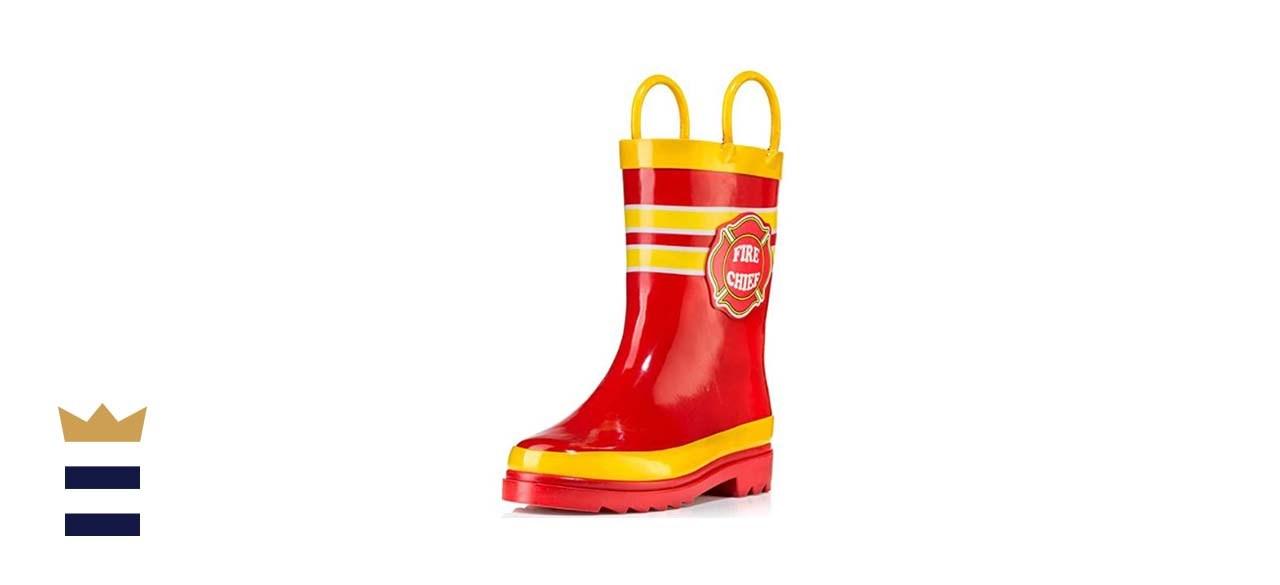Puddle Play Kids Waterproof Rubber Rain Boots
