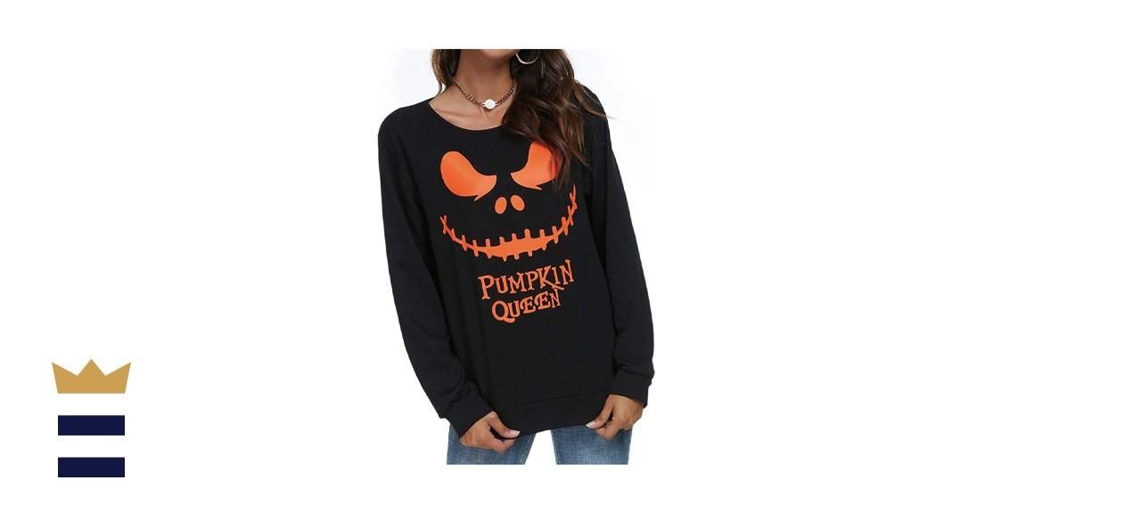 Pumpkin Queen Long Sleeve Sweatshirt