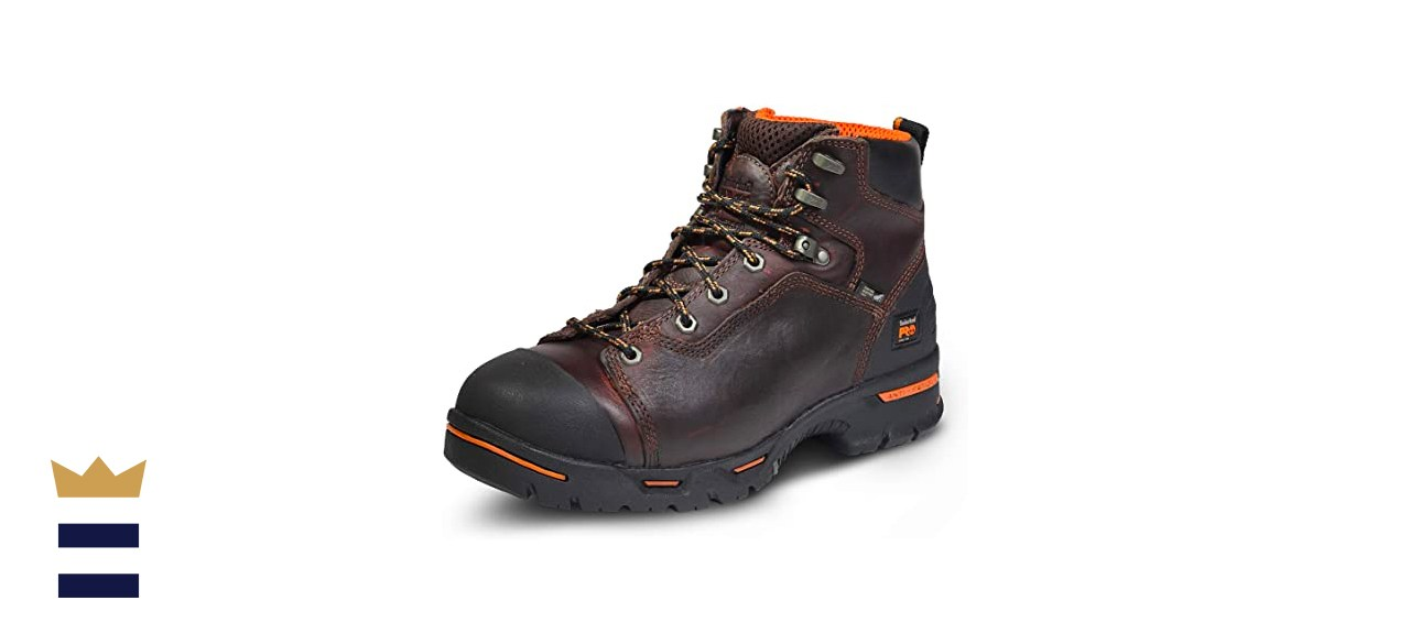 Timberland PRO Men's Endurance 6 Inch Steel Safety Toe Puncture Resistant Work Boot